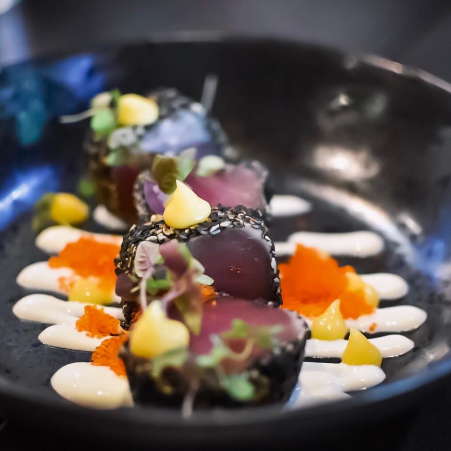 Blondie Bar   Nori-sesame crusted tuna