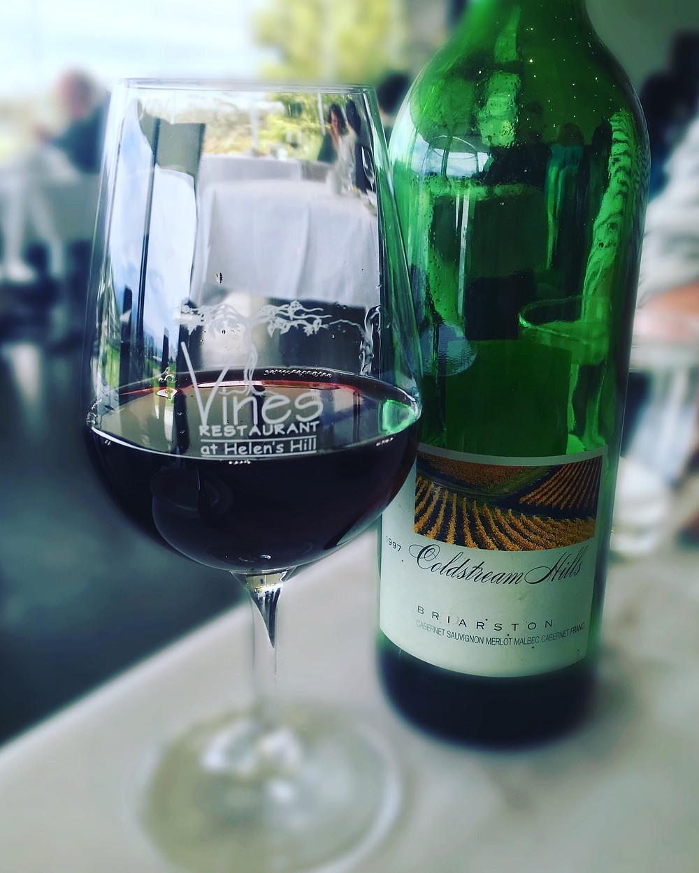 Vines Restaurant | Coldstream Hills 1997 Bordeaux blendx