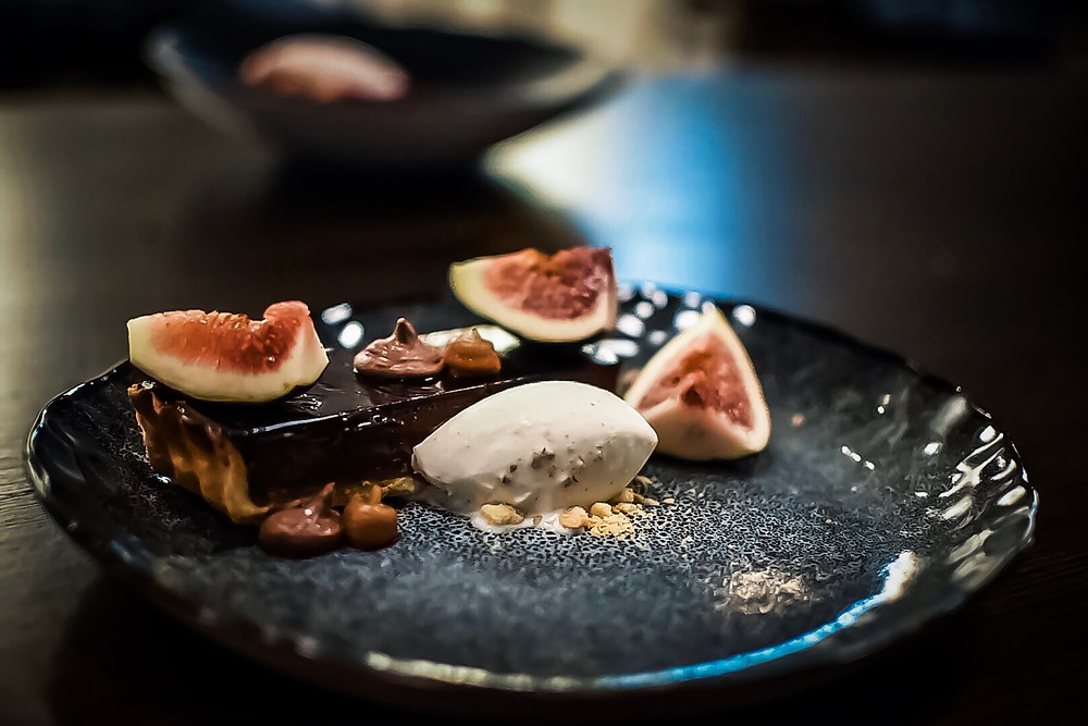 Saxe | chocolate tart, fig & salted caramel