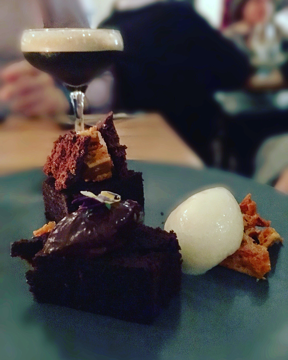 The Graham | Chocolate brownie, pear sorbet