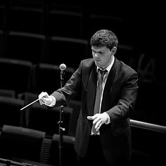 Black and White photo of Conductor