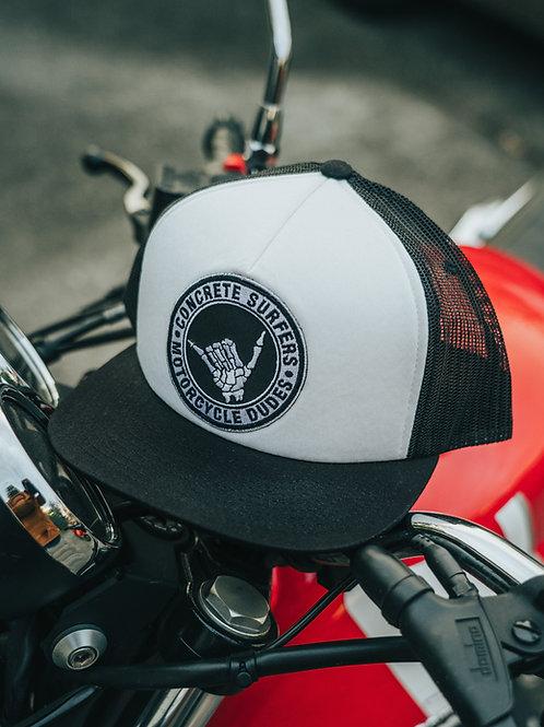 Hang Loose Foam Trucker Cap (White & Black)