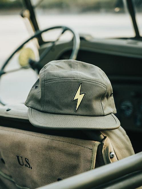 Lightning Bolt Jockey Cap (Olive)
