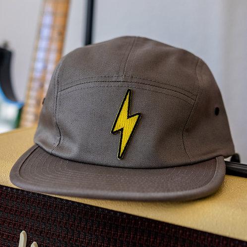 Lightning Bolt Jockey Cap (Dark Grey)