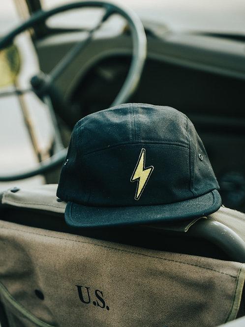 Lightning Bolt Jockey Cap (Black)