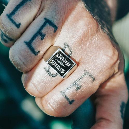 Good Vibes Signet Ring