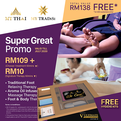 Super Great Promo RM109 + 10