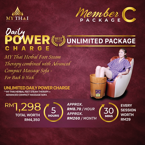 Member Package C Daily Power Charge Unlimited Package