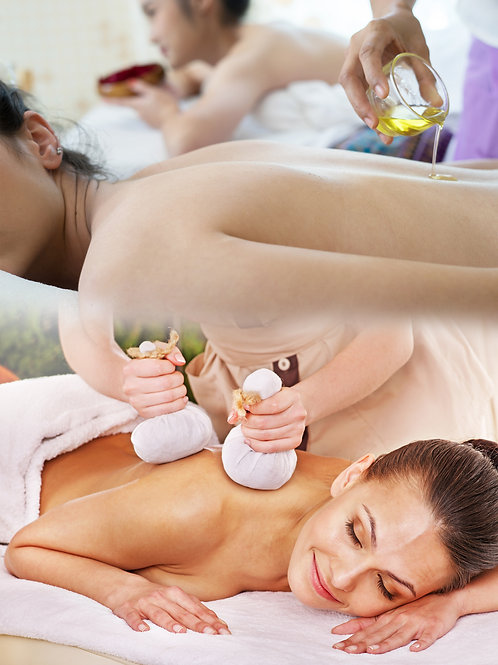 Aroma Oil Infused Massage Therapy Plus Hot Compress Therapy