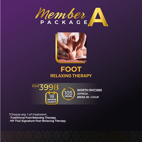 Member Package A -  Foot Relaxing Therapy