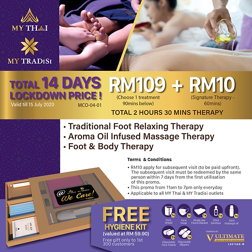 TOTAL 14 Days LOCKDOWN Promo Special Price RM119