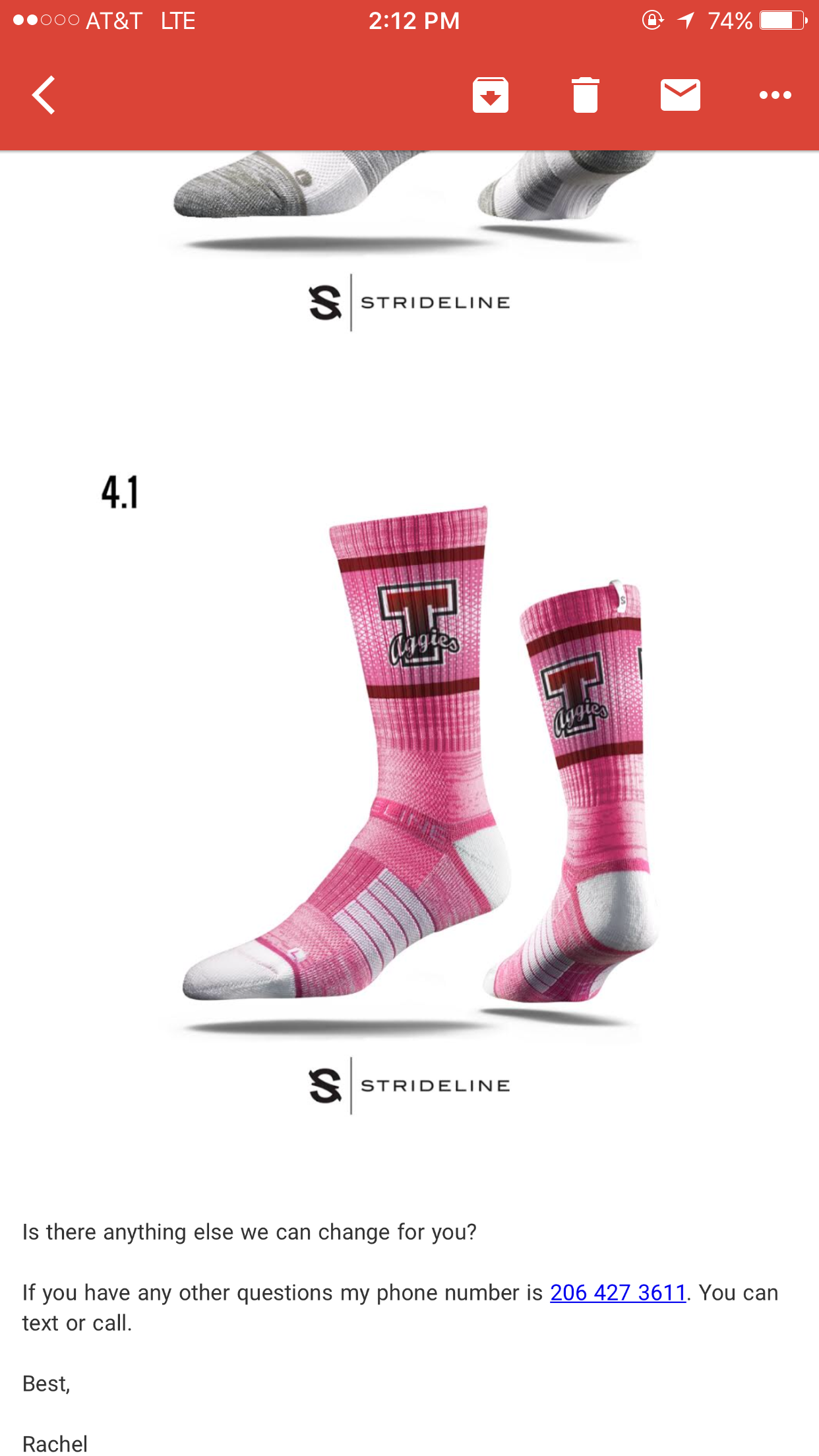 Pink Crew Socks