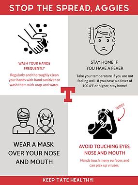 Aggie Prevention Coronavirus Awareness P