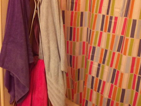 Small bathroom space-saving tip
