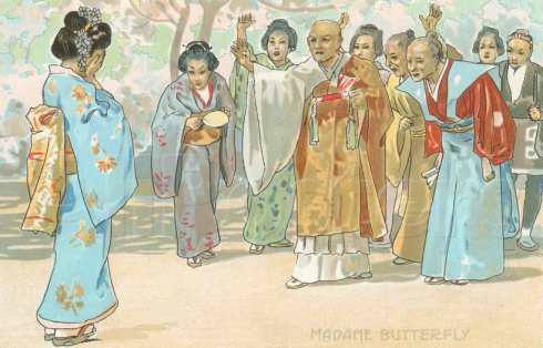 art print scene from Madame Butterfly
