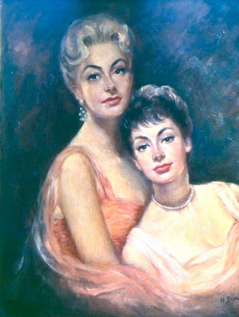 1960s Helene MC studio shot painting