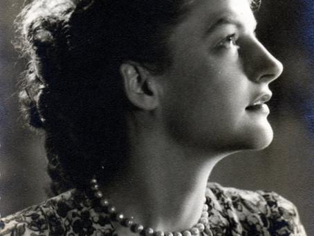 Helene on the radio in 1959