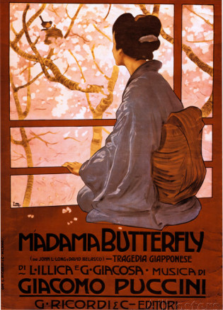 Madame Butterfly traditional poster