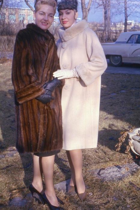 1970s Helene MC outdoors fur