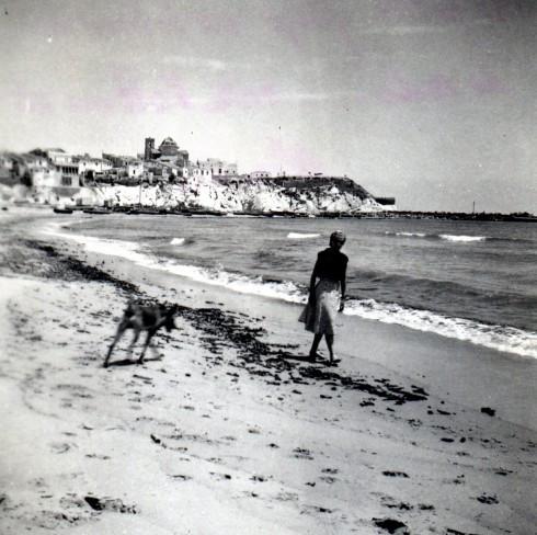 49 Palavas, Helene & Thunder on beach