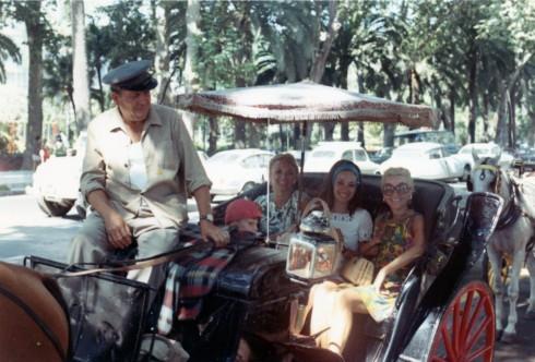 1960s Spain? Hermine MC Helene in horse carriage tour