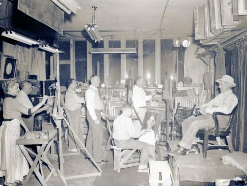 1940s? ?? painting class Helene