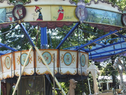Detail - vintage French carousel