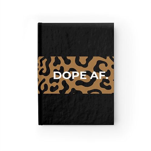 Cheetah Dope AF. Journal - Ruled Line