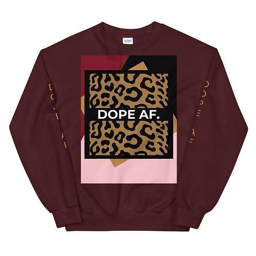 Cheetah DOPE AF. Unisex Sweatshirt