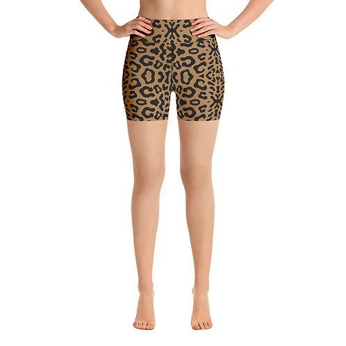 Cheetah Yoga Shorts