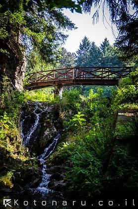 גשר מעל מים סוערים