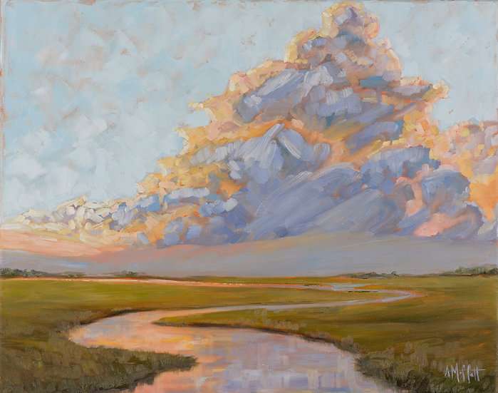 Thunder Clouds over the Marsh
