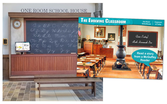 One Room Schoolhouse Display in Legacy Hall