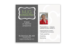 MJG Consulting Business Cards