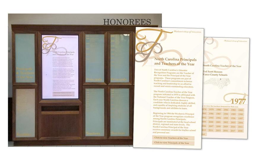 Honorees Display in Legacy Hall