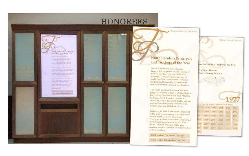 Honorees Display in Legacy Hall