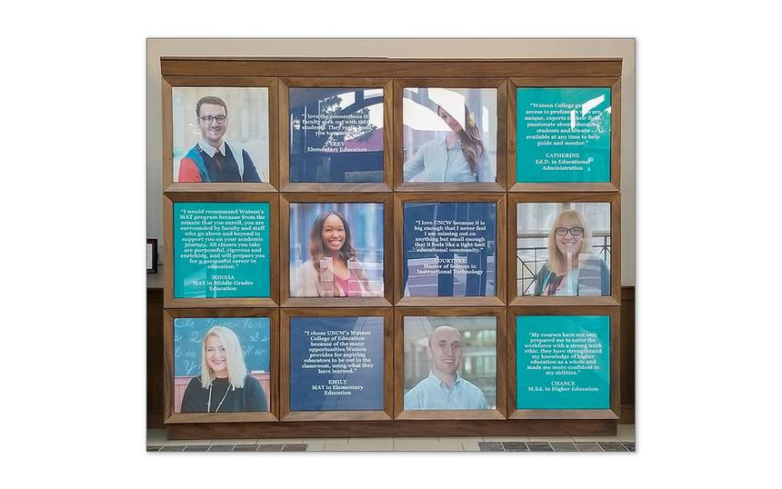 Testimonials Display in Legacy Hall
