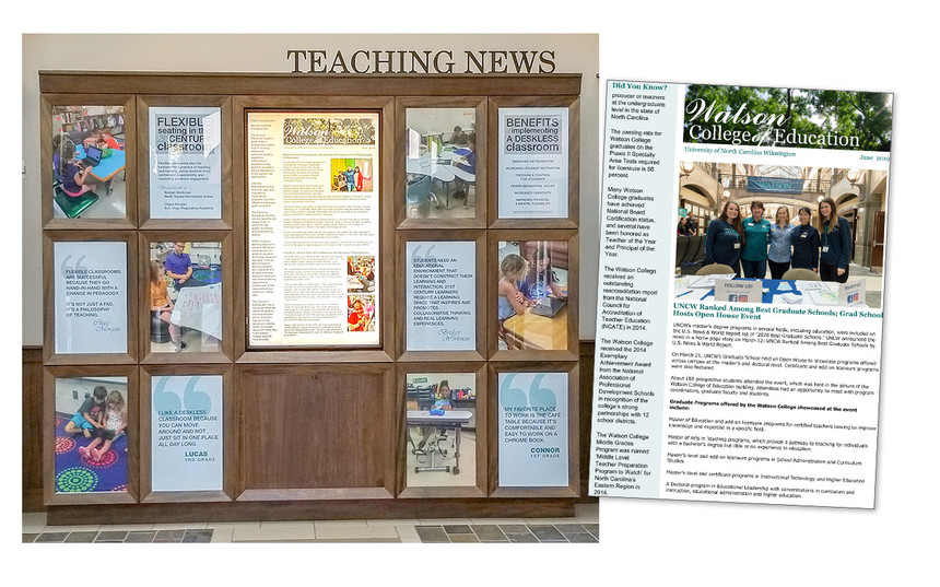 Teaching News Display in Legacy Hall