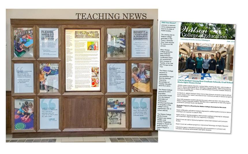 Teaching News Display in Legacy Hall