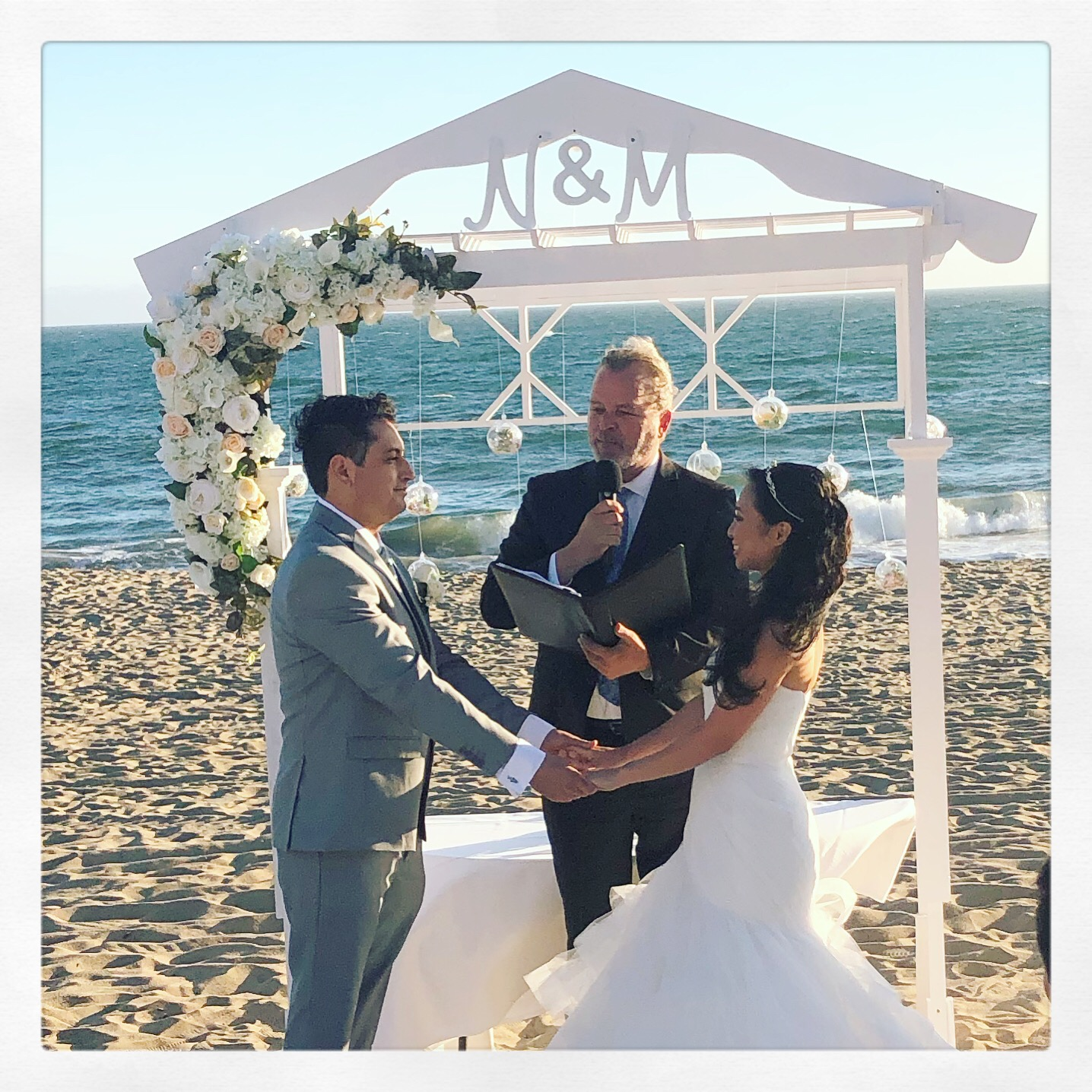 Naisa & Max's Small Summer Beach Wedding Ceremony - The Sunset