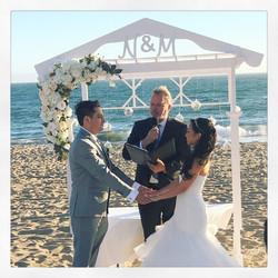 Naisa & Max's Small Summer Beach Wedding Ceremony - The Sunset