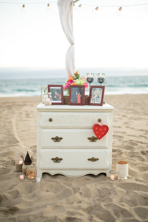 Dresser on the Beach