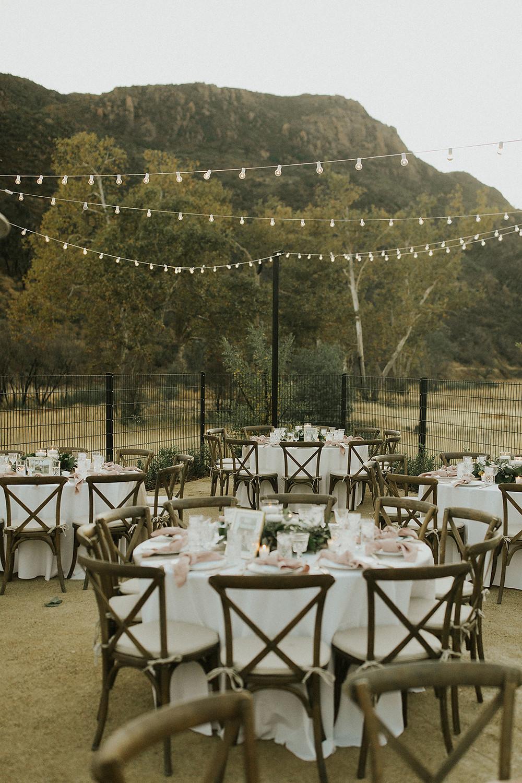 Backyard Dinner with Overhead Lighting & gorgeous mountain views