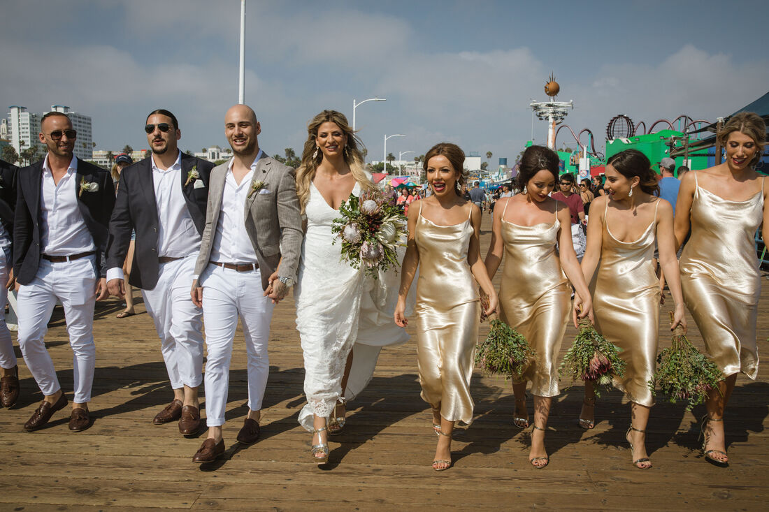 Kon & Bianca's Malibu Destination Small Wedding with Wedding Party