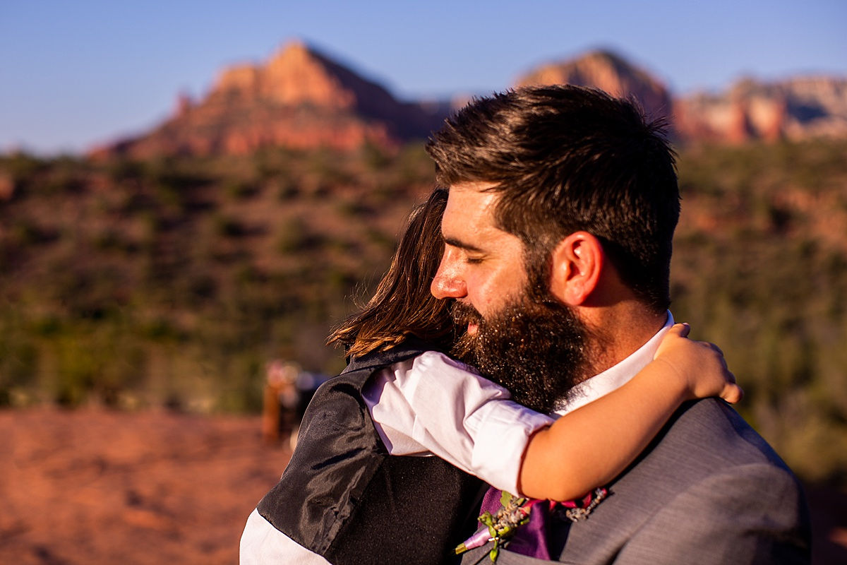 Katee & Andrew's Sedona, Arizona Elopement Vow Renewal - Andrew with son