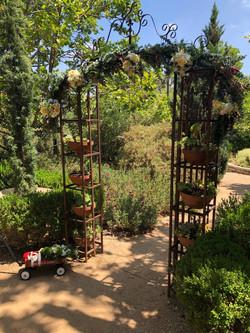 Elisa & Nick's Garden Wedding Ceremony Arch