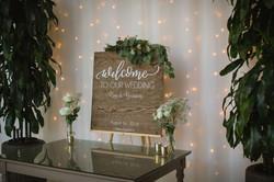Kon & Bianca's Malibu Destination Small Wedding Welcome Sign