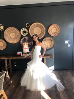 Naisa & Max's Wedding - Nasia with Cake