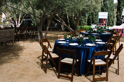 Guest tables with side Garden Ceremony Set Up