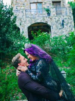 Autumn & Aaron's Lobo Castle Wedding - Halloween Inspired